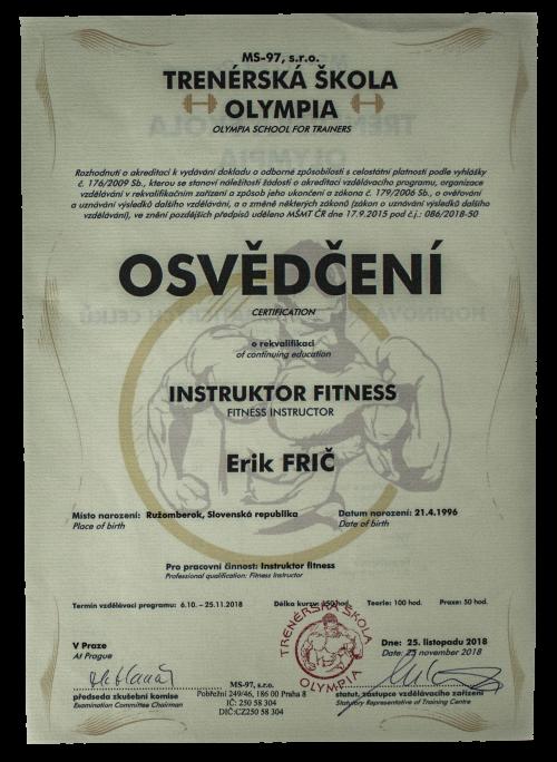 Inštruktor fitness